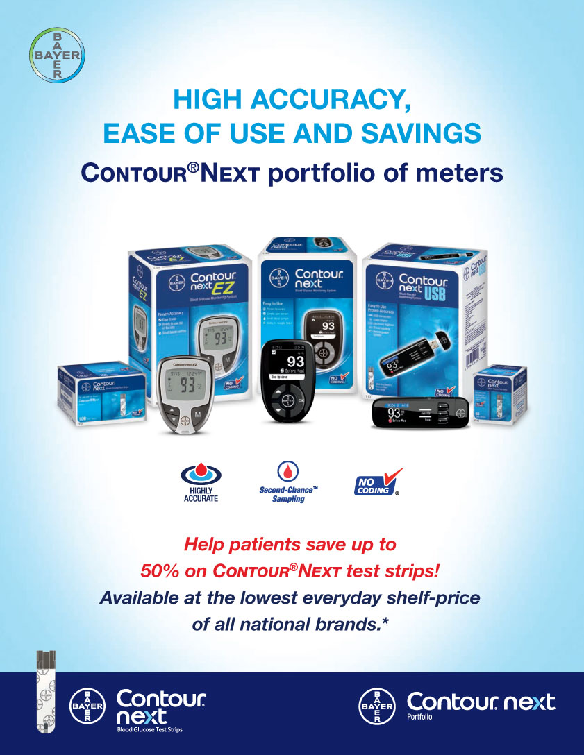Bayer Contour 174 Next Blood Glucose Monitoring System Fall