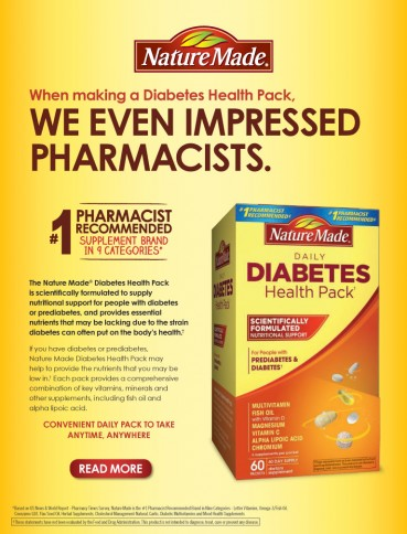 Nature Made® Diabetes Health Pack, 60 Packets