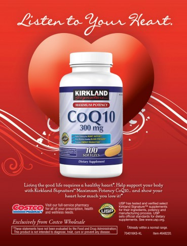 Kirkland Signature™ CoQ10 300 mg., 100 Softgels