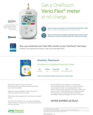 No Charge OneTouch® Meter Coupon