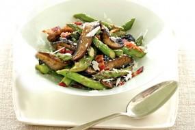Portobellos and Asparagus