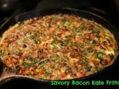savory bacon kale frittata