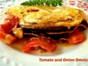 tomato and onion omelet