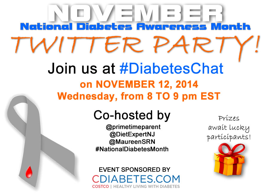 National Diabetes Awareness Month Twitter Party
