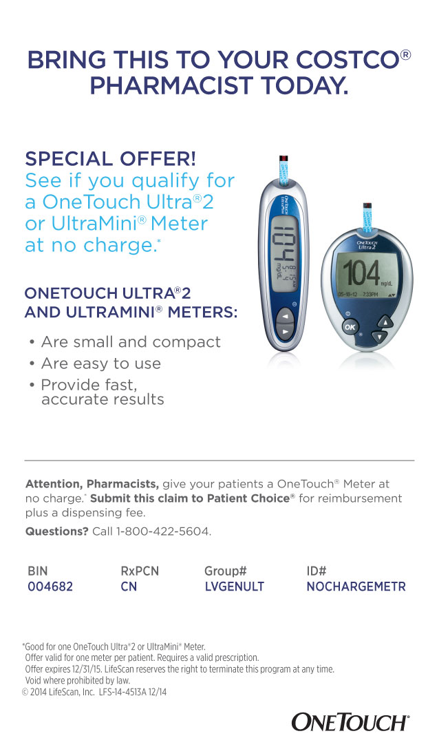 SPECIAL OFFER! FREE OneTouch Ultra®2 or UltraMini® Meter