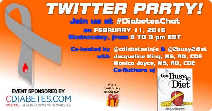 #DiabetesChat Twitter Party February 11, 2015 Transcript