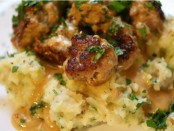 Meat Ball with Mint and Potato