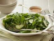 Watercress and Spinach Salad with Honey-Lemon Dressing