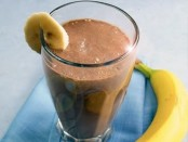 Choco Banana and Peanut Butter Smoothie