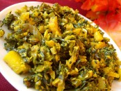 Turnip-Spinach Fry