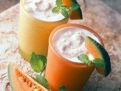 Melon Vanilla and Soy Cooler