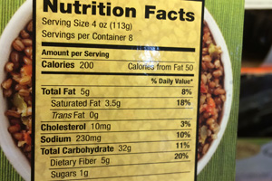 grains & simple Nutrition Facts