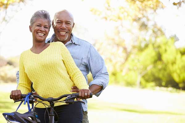 Black-Senior-Couple-On-Cycle-Ride