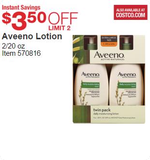 Instant Savings on Aveeno Lotion