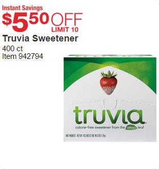Truvia Sweetener 400 ct | Instant Savings $5 .50 OFF LIMIT 10 | item-942794