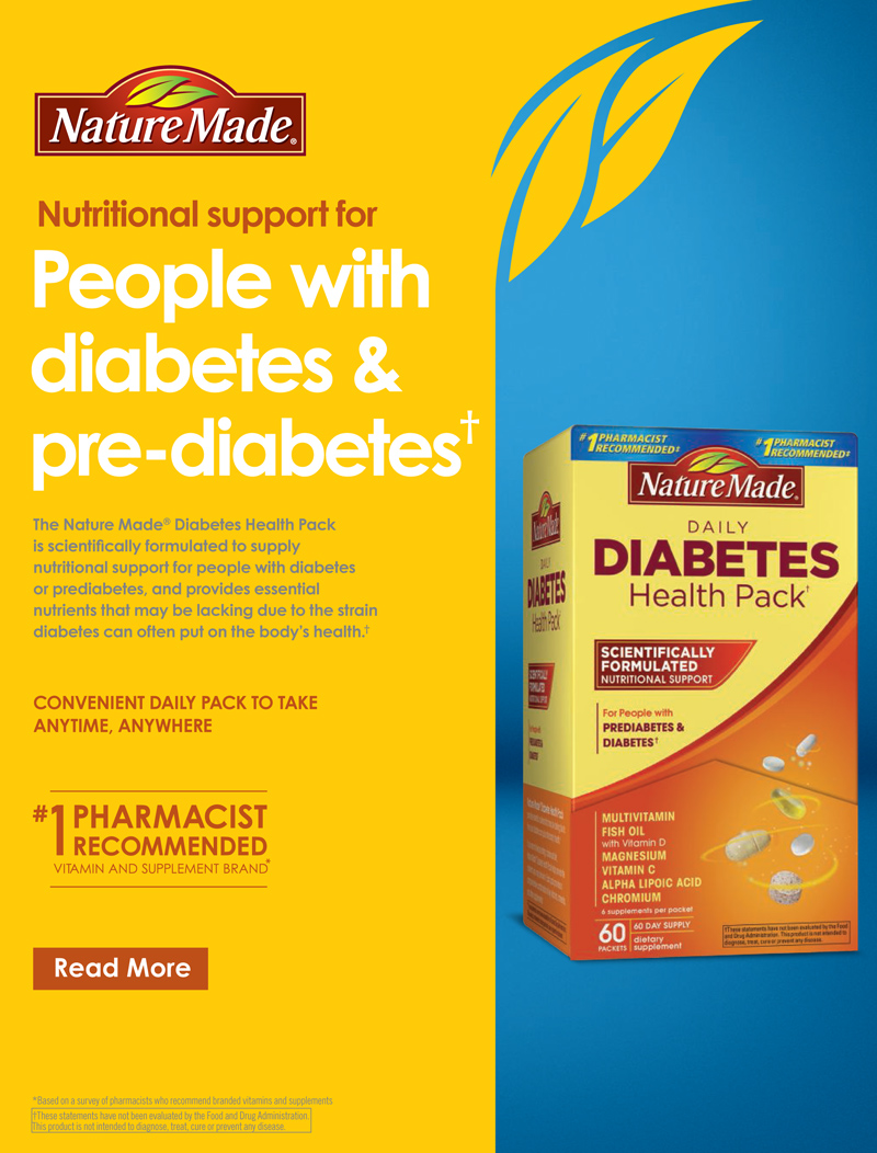 Nature Made Diabetes Health Pack 60 Packets Cdiabetes Com